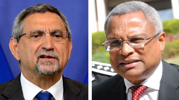 From left President Fonseca of MpD and Prime Minister Jose Neves of PAICV - Photo credit: BBC