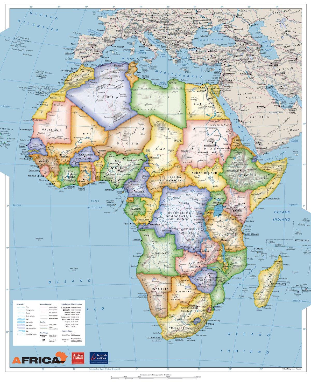 Mapa Africa Politica 66