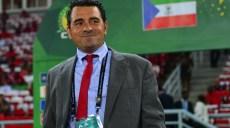 Esteban Becker, coach of Equatorial Guinea during the 2015 Africa Cup of Nations quarterfinal football match between Tunisia and Equatorial Guinea at Bata Stadium, Bata, Equatorial Guinea on 31January 2015 ©Gavin Barker/BackpagePix