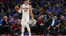 DETROIT, MI - FEBRUARY 1: Blake Griffin #23 of the Detroit Pistons looks to post up on JaMychal Green #0 of the Memphis Grizzlies during the fourth quarter of the game at Little Caesars Arena on February 1, 2018 in Detroit, Michigan. Detroit defeated Memphis 104-102. NOTE TO USER: User expressly acknowledges and agrees that, by downloading and or using this photograph, User is consenting to the terms and conditions of the Getty Images License Agreement   Leon Halip/Getty Images/AFP