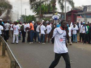 Manifestation contre la candidature d'Ali Bongo
