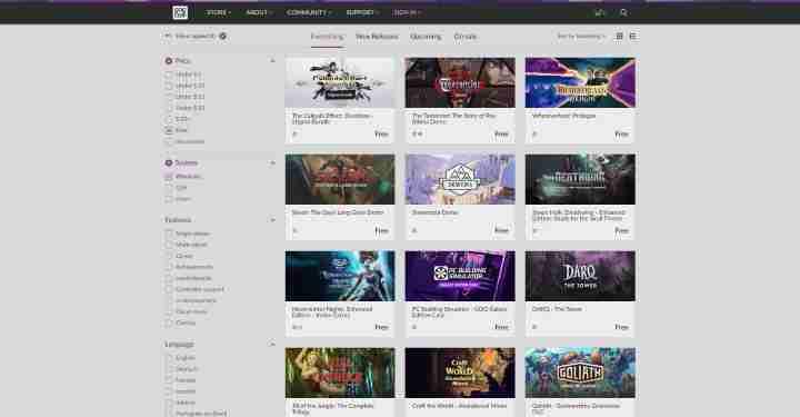 GOG Jeux-vidéo gratuits