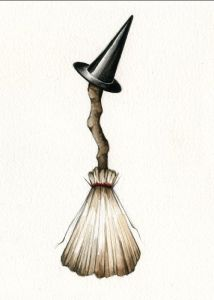ancient wiccan besom broom