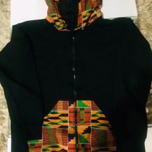 Afrikaiswoke.com African Print Themed Hoodie
