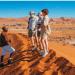 Des touristes dans le désert de Namib. Photo: DR