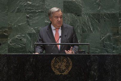 Le secrétaire général de l'ONU, Antonio Guterres à l'ouverture de la 74ème AG de l'Onu. photo: ONU/ Cia Park