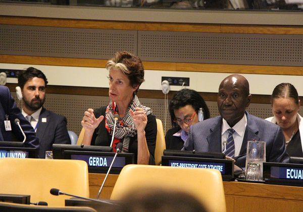 Le vice président ivoirien à la table ronde sur la CMU à New York. Photo: Afrikipresse