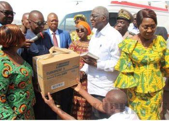 Don d'ambulance à Bouaké ( Amadou Koné)