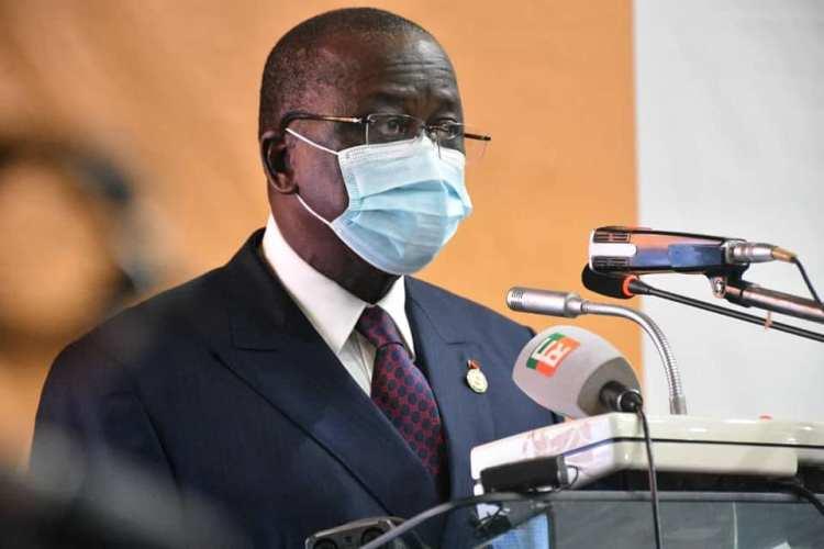 Le président du Sénat ivoirien, Ahoussou J. Kouadio le 12 juin 2020 à amoussoukro. Photo:  Page Facebook officielle du Sénat de Côte d'Ivoire