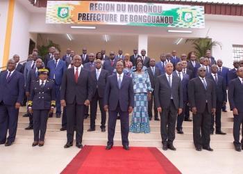 gouv.ci: Photo de famille après le conseil des ministres à Bongouanou, le 9 septembre 2020 ( visite d'Etat)