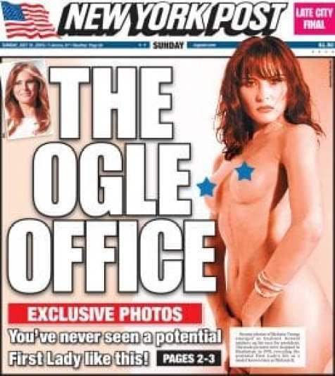 les photos nues de la femme de Donald Trump scandalisent le web (photo)