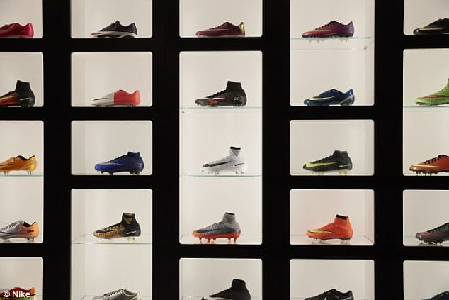 Cristiano Ronaldo shows his huge collection of shoes ... And explains his departure from England