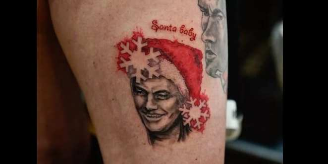 Obsessed by Jose Mourinho, she makes a tattoo of him as a Christmas present (photos)