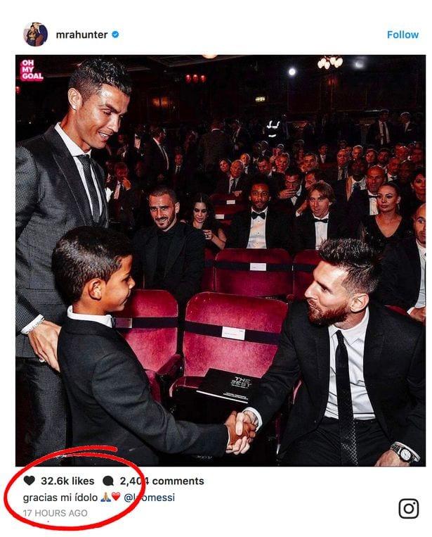 Cristiano Ronaldo: son fils envoie un message incroyable à Lionel Messi