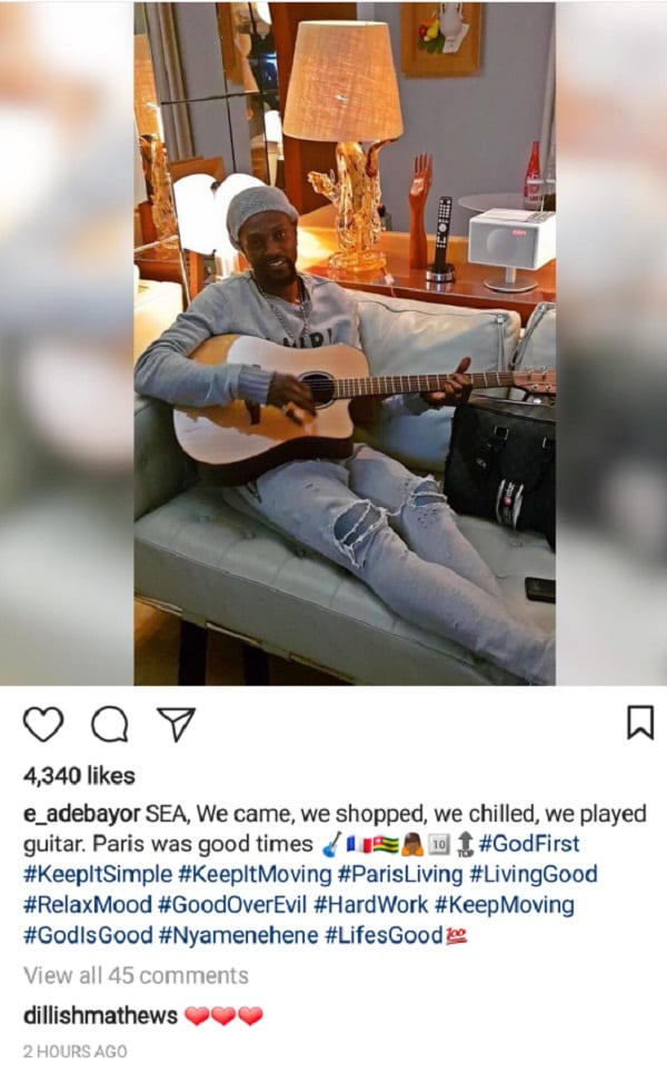Fin de la romance entre Emmanuel Adébayor et Dillish Matthews ? Photos