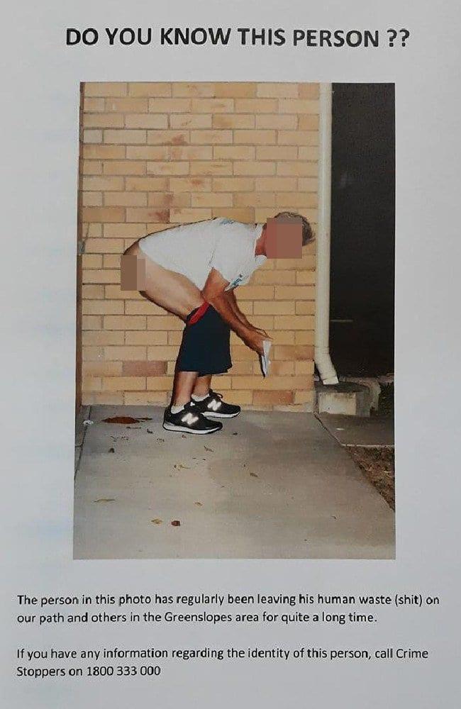Australie: Un homme pris en photo déféquant devant la maison de son voisin