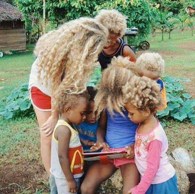 Amazing: Here are the Melanesians, black and blond people of Australia (Photos)