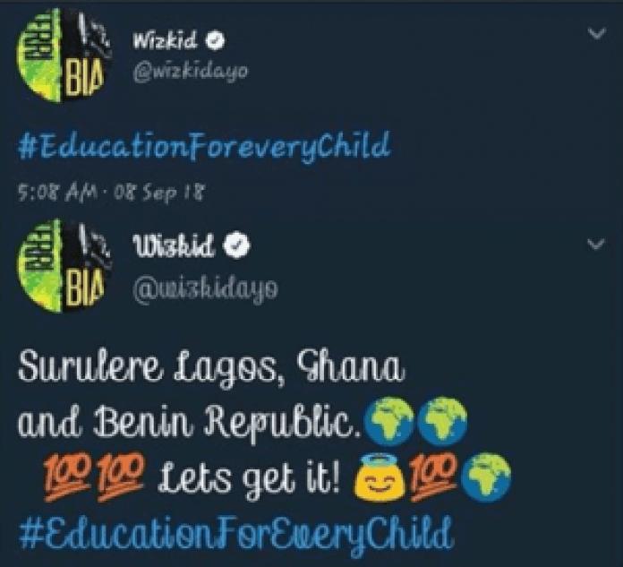 People: Wizkid révèle pourquoi il a abandonné ses études et son rêve pour l'Afrique