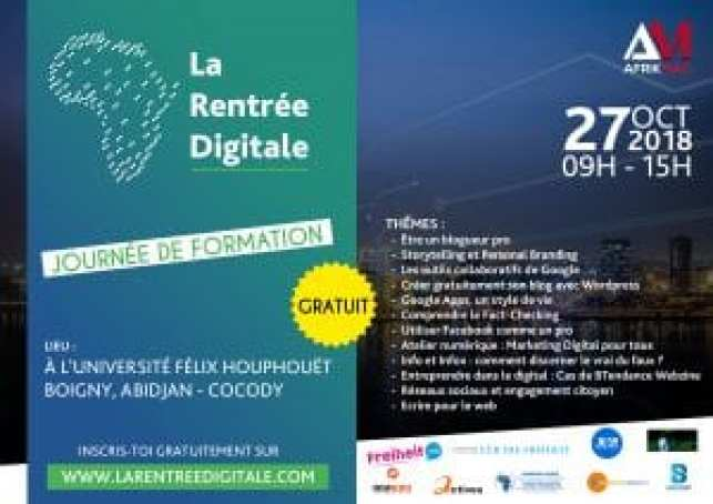 Technologie: Abidjan abrite la 1ère éditition de La  Rentrée Digitale, ce 27 octobre
