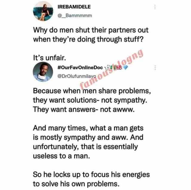 Pourquoi les hommes excluent leurs partenaires dans les moments difficiles