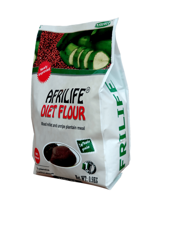 Afrilife DIET FLOUR formulated to with your body goals in mind. The active ingredient is scientifically proven to help manage weight, blood sugar and cholesterol levels and recommended by the American Diabetes Society