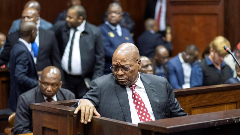 Jacob Zuma before an anti-corruption commission