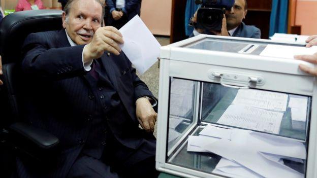 Photo of 81-year-old Algerian president, Abdelaziz Bouteflika to fifth term