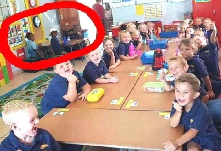 Teacher suspended for 'segregation' of black pupils in South African school