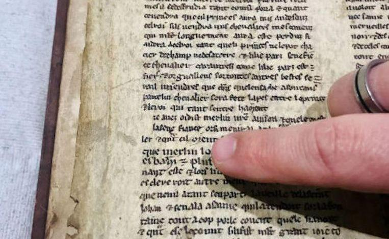 Photo of Hidden 13th-century texts of Merlin and King Arthur
