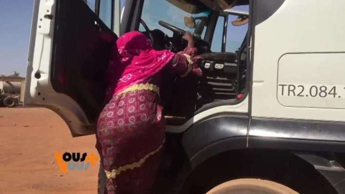 Massata Cisse, only heavy duty female driver for 28 years