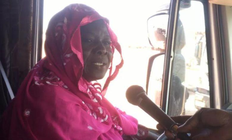 Photo of Massata Cisse, heavy duty female driver for 28 years