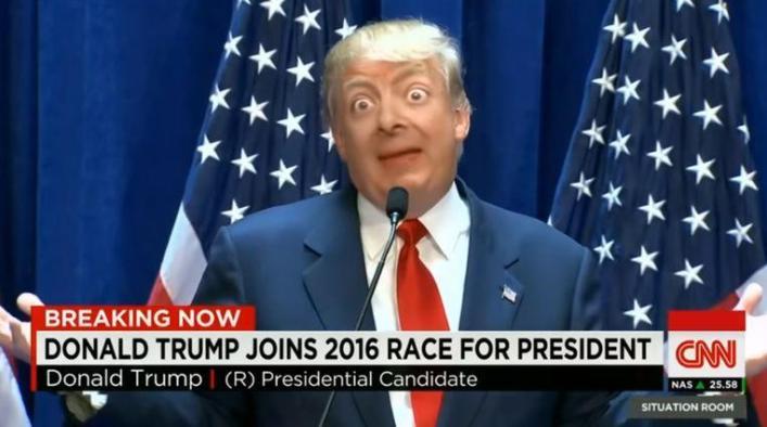 viral Deepfake creation of Donald Trump and... Bean