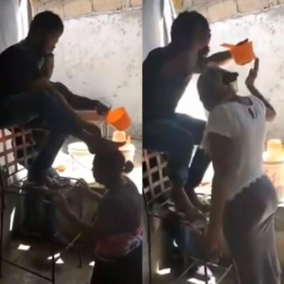 Pastor washes his face and feet on the heads of his Members [Video]