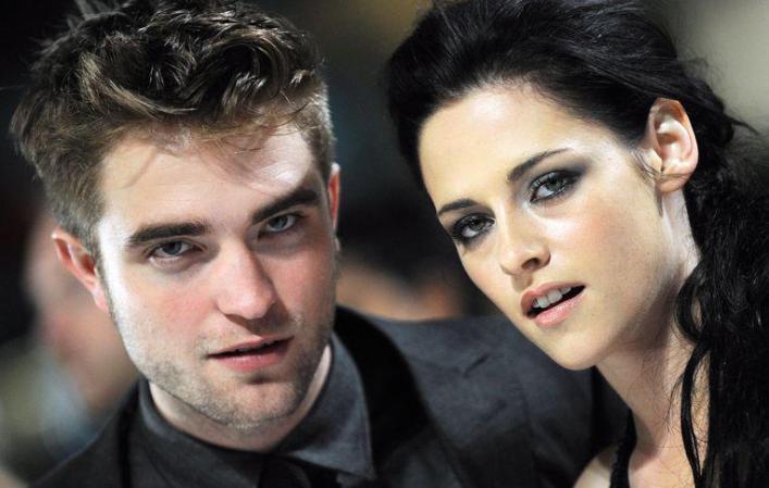 Robert Pattinson and Kristen Stewart on promotional tour for the penultimate 'Twilight' film, before the bomb burst.