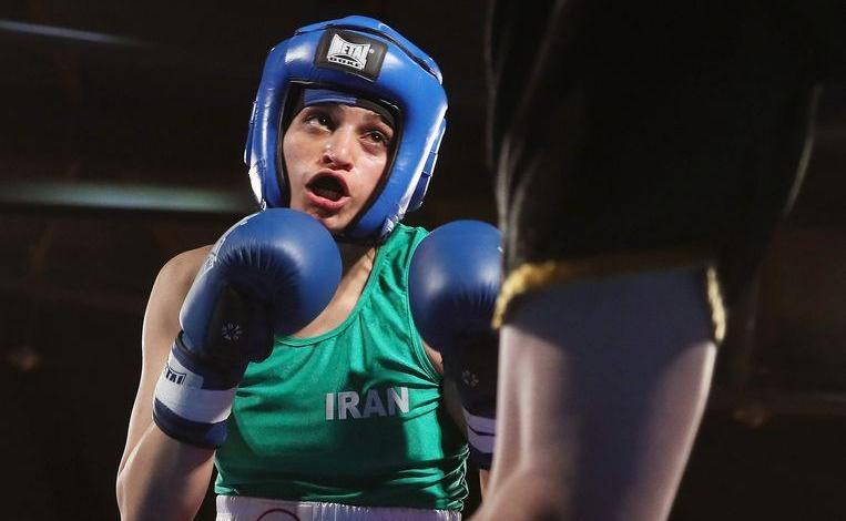 Photo of Sadaf Khadem, first Iranian woman ever wins official boxing match