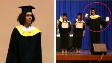 Photo of Young man destroys his diploma during graduation ceremony [Video]
