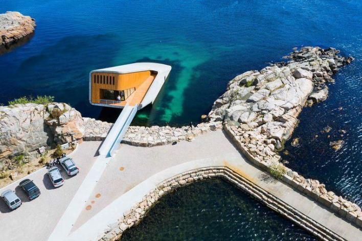 Look inside the largest underwater restaurant in the world