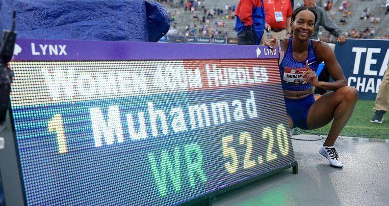 Photo of Dalilah Muhammad sets new world record at 400m hurdles