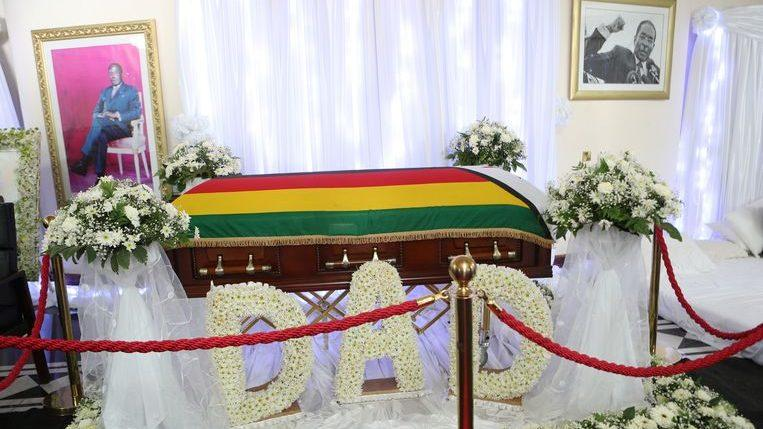 Photo of Mugabe is buried in his home village according to his family