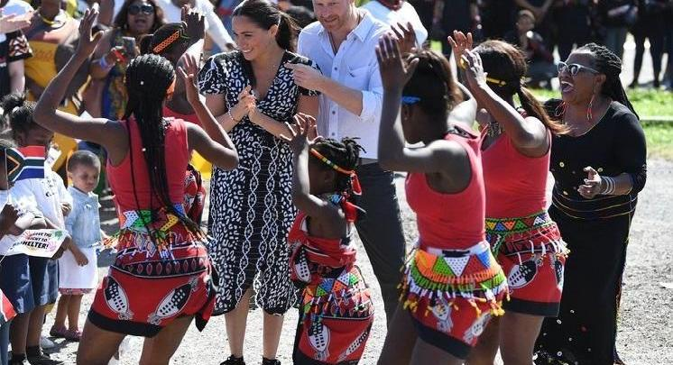 Photo of Harry and Meghan tease a dance in Cape Town