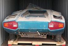 Photo of Rare Lamborghini recovered in container after forty years