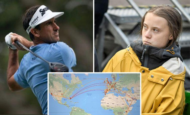 Photo of Golfer compares Greta Thunberg to Hitler and boasts about 50 flights
