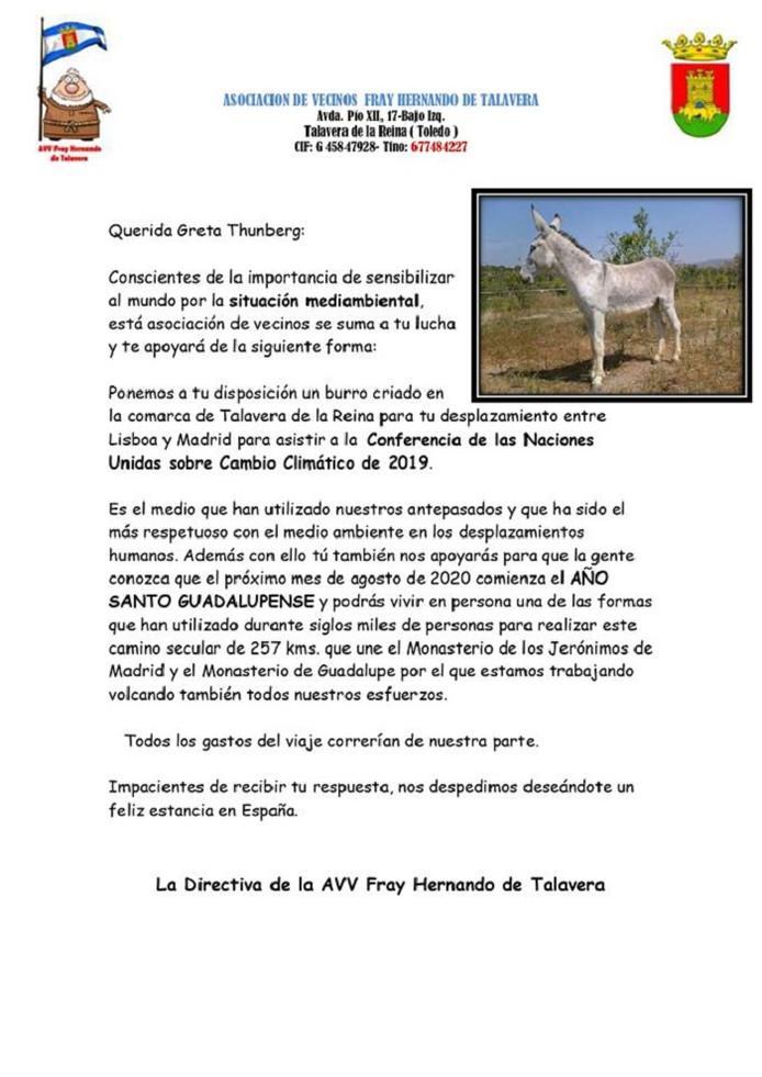 Climate activist Greta Thunberg receives donkey for transit