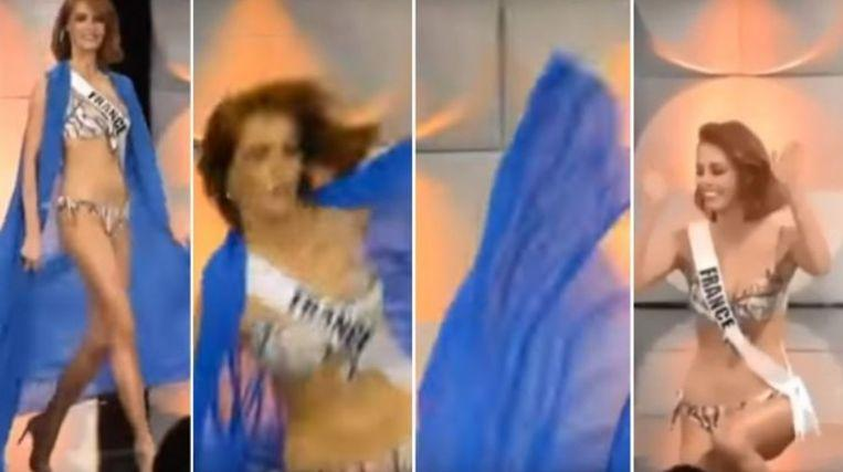 Photo of Miss France slips down during preselection of Miss Universe [Video]