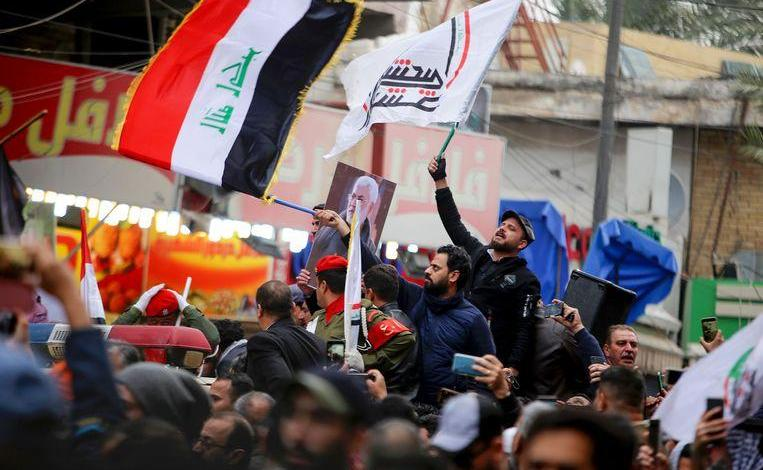 "Photo of Iraqis shout ""death to America"" during Soleimani's procession [Photos]"