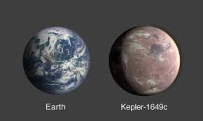 Exoplanet resembling the Earth: the same size and temperature