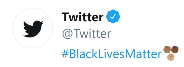 Major media companies openly support the 'Black Lives Matter' movement