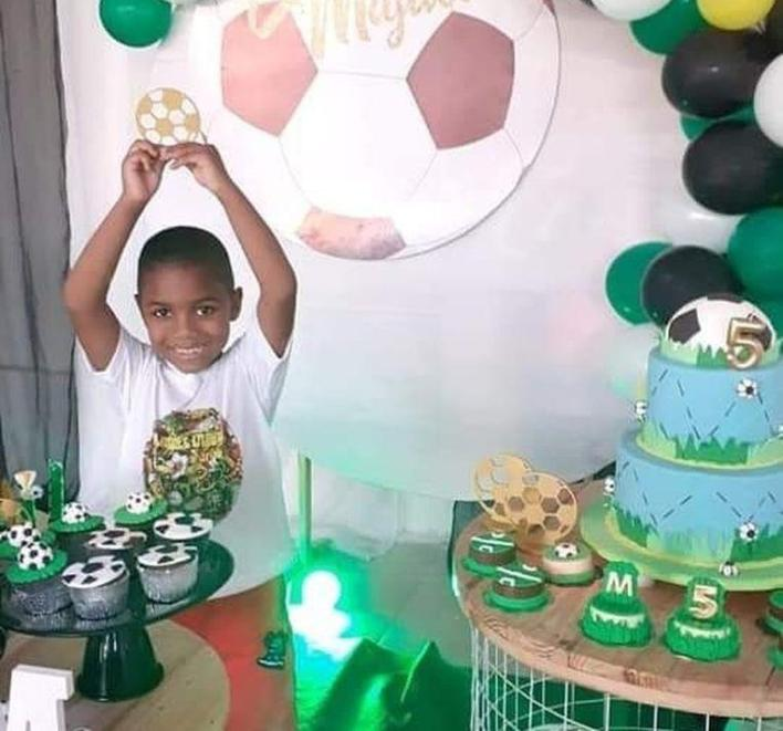 Miguel during his fifth birthday,