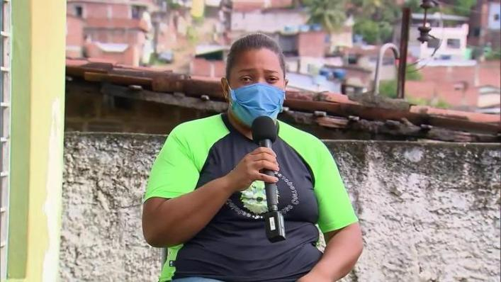 Mirtes, Miguel's mother, during an interview with the Brazilian channel TV Globo.