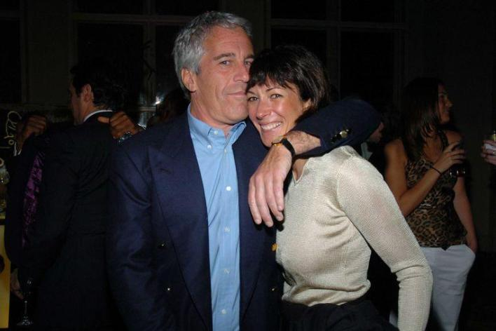 Jeffrey Epstein and Ghislaine Maxwell. Maxwell was Epstein's ex-girlfriend and is said to have supported the abuse.